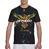 Lemonationob Sevendust Kill The Flaw Shirt Mens T Shirt Crewneck Short Sleeve 3D Printed Graphic Tee Shirt Black
