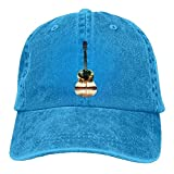 Hoswee Unisex Casquettes de Baseball/Chapeau Femme, Guitar Nature Adult Cowboy Hat Baseball Cap Adjustable Athletic Make Custom Trendy Hat for Men and Women