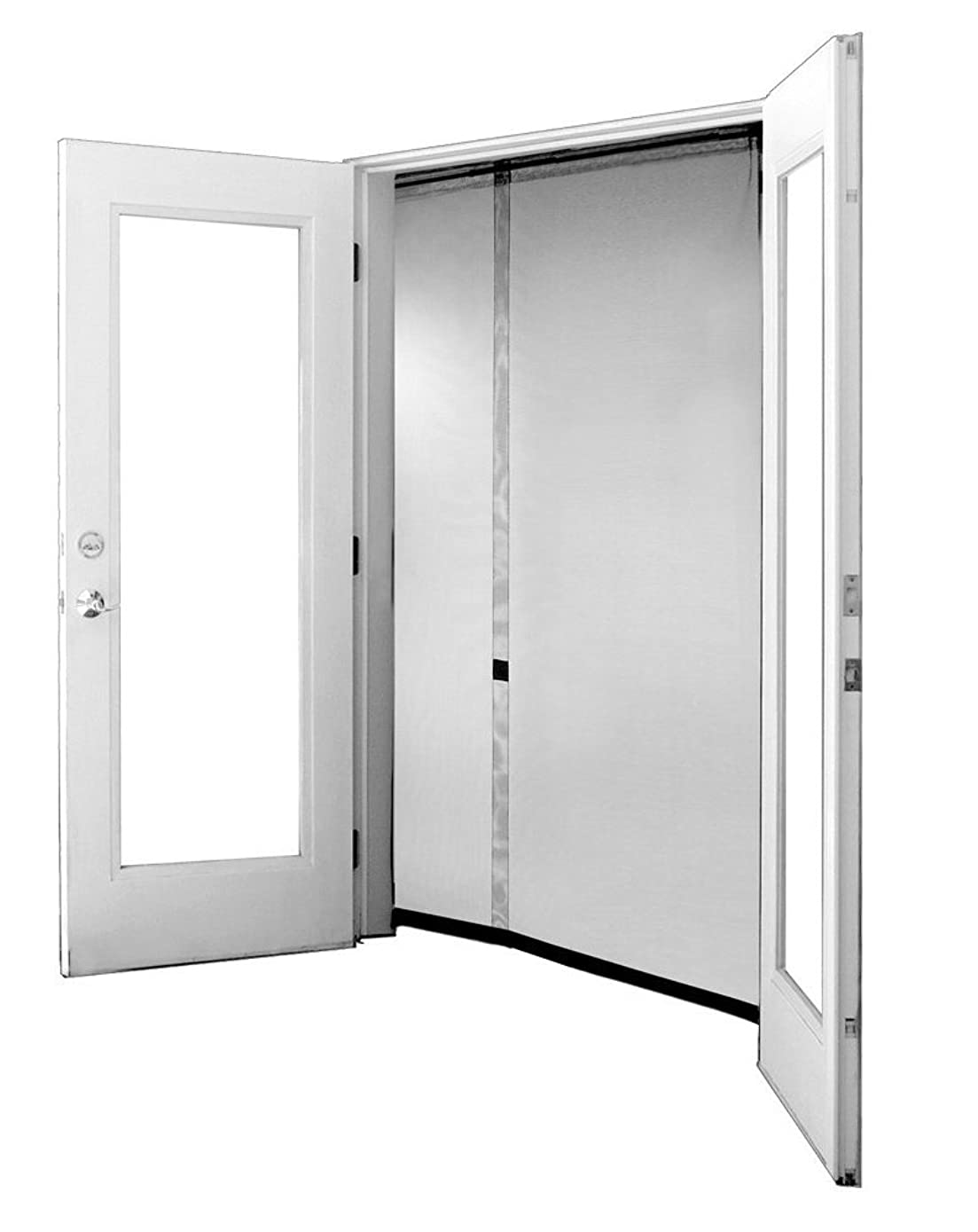 Bug Off 72R by 80 Instant Screen - Reversible Fits French Doors and Sliding Glass Doors