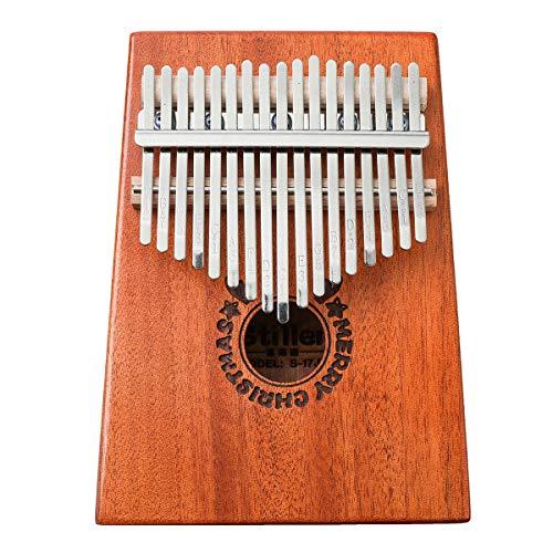 ZIEO Pocket Thumb Finger Piano17-Tasten Kalimbas Holz Finger Daumen Klavier Mbira Bildung Musikinstrument Spielzeug Finger Daumen Klavier (Size:One Size; Color:B)