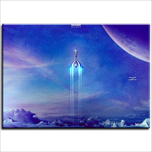 Digital Oil Painting Mass Effect Andromeda Painting Living Room Artwork Landscape 40X50 (No Framed)