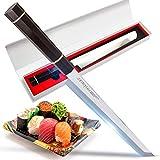 Seiryuuu Coltello Sakimaru Serie Pro Sashimi - Coltello Giapponese da Sushi, Lama 280 mm in Acciaio Damasco - Coltello Affilato per Sfilettare Pesce, Salmone – Coltello Professionale