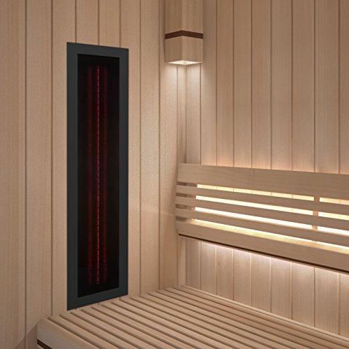 Infrarotstrahler GKR-AR Glaskeramik RotLicht  Sauna inkl Abdeckrahmen Tiefenwärmestrahler Bild 2*