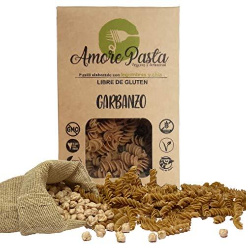 Amore Pasta de Garbanzo, Sin Gluten, Vegana, 100% Legumbres y Semillas de Chia - 260 g