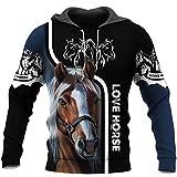 Skull T Shirt for Men 3D Printed Women Sweatshirts Hoodies Smart Love Horse Hoodie 7XL