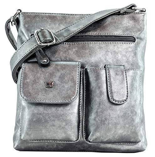 Purse King Colt Concealed Carry Handbag (Gunmetal Silver)