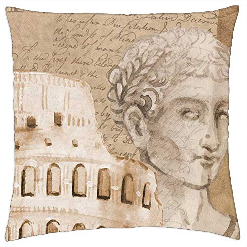 LESGAULEST Throw Pillow Cover (24x24 inch) - Colosseum Rome Caesar Background Italy Europe 1