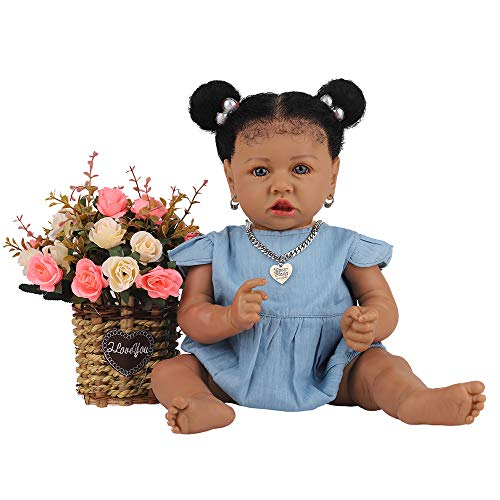 Reborn Baby Dolls with Realistic Doll Weighted Newborn Dolls Gift Set Lifelike Realistic Silicone Reborn Baby Dolls for Age 3+