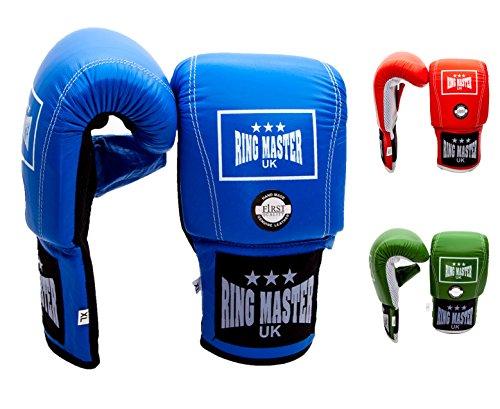 ringmasteruk Erwachsene Boxhandschuhe Boxsack aus echtem Leder blau, Herren damen, blau