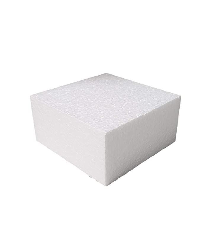 White Square EPS Polystyrene Foam Block/Bricks by MT Products (4 X 4 X 2) (10 Pieces)
