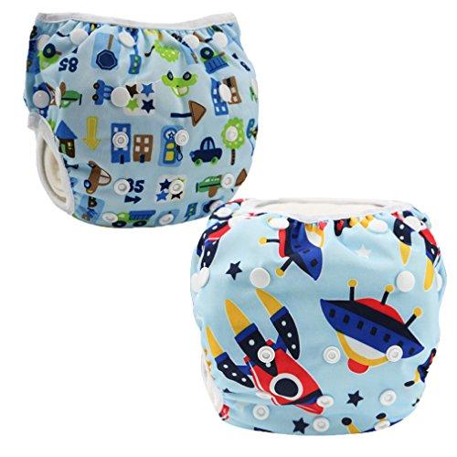 JT-Amigo Pañal Bañador Reutilizable Para Bebé (Pack de 2), Set 3