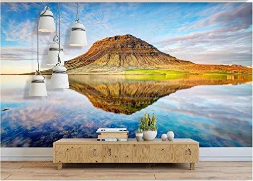Papel Pintado Pared Tejido No Tejido Murales Paisaje Natural Del Pico De La Montaña Del Mar Papel De Pared 3D Fotográfico Decorativos Pared 320x230cm