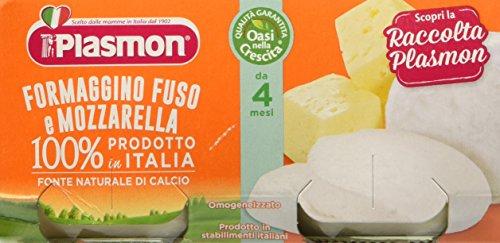 Plasmon Omogeneizzato di Formaggio, Mozzarella - 24 Vasetti da 80 gr
