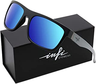 Polarized Fishing Sunglasses for Men,Blue Mirrored...