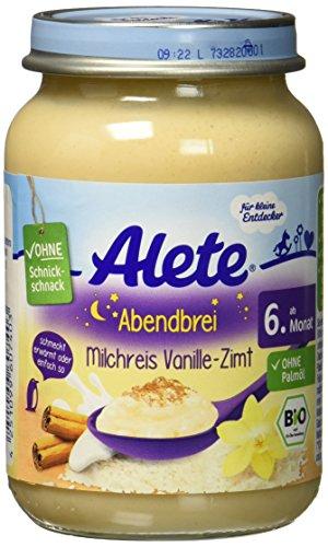 Alete Abendbrei Milchreis Vanille-Zimt, 190 g