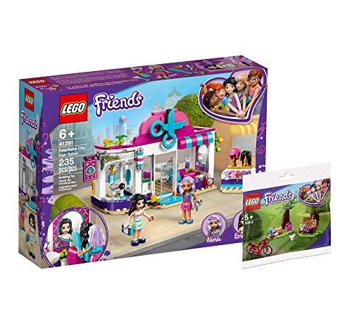 Collectix Lego Friends Set de peluquería de Heartlake City (41391) + bolsa de picnic en el parque (30412), set de regalo a partir de 6 años