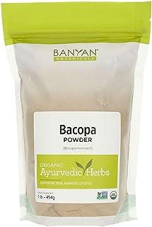 Banyan Botanicals Bacopa Powder, 1 Pound - USDA Organic - Bacopa monniera - Ayurvedic Herb for Memory & Focus