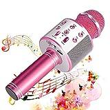 Suntop Micrófono Karaoke Bluetooth, Micrófono Inalámbrico Bluetooth, Bluetooth Altavoz,...