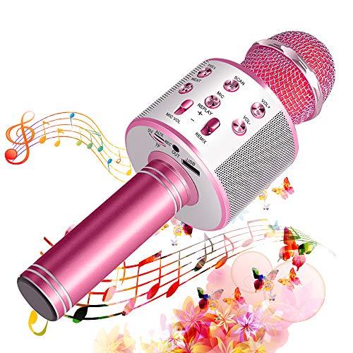 Suntop Micrófono Karaoke Bluetooth, Micrófono Inalámbrico Bluetooth, Bluetooth Altavoz, Micrófono Karaoke Portátil...