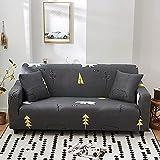 WXQY Funda de sofá Decorativa Impresa, Antideslizante, Suave, clásico, Verde, Blanco, Enrejado, Antideslizante, Funda de sofá Envuelta herméticamente A7, 2 plazas