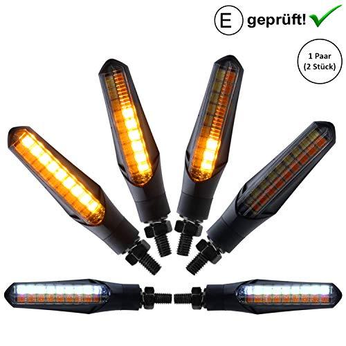 Universal Motorrad LED Blinker Lauflicht E-Zeichen / Roller ATV Quad IP67 (Blinker inkl. Tagfahrlicht)
