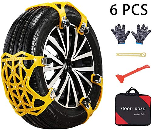 ACUMSTE Car Snow Chains, Emergency Anti Slip Snow Tire Chains for Most Cars/SUV/Trucks,Winter...
