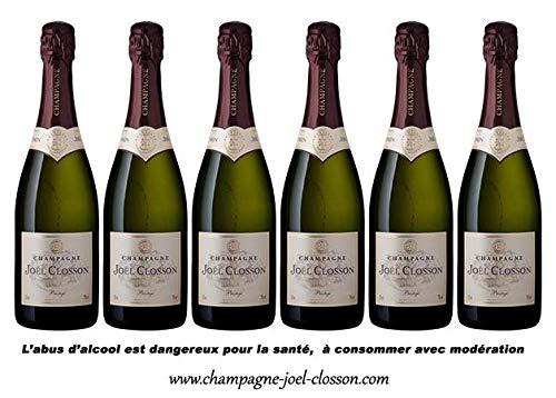 Lot de 6 Bouteilles de Champagne PRESTIGE Brut - Joël...