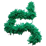 Cynthia's Feathers 65g Chandelle Feather Boas Over 80 Colors & Patterns to Pick Up (Emerald Green)