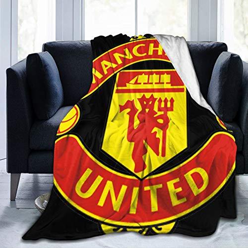 De Manchester - Manta de forro polar de franela súper suave y mullida para sofá cama