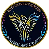 Phoenix Bird Medallion'out of the ashes of addiction renewal and growth' Recovery Coin