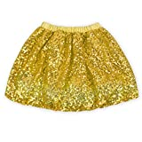 Coralup Little Girls Sparkle Sequins Ballet Tutu Skirts D7003(Gold,5-6Y)