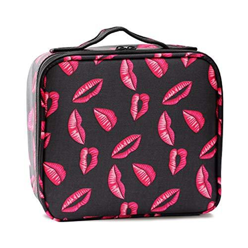 Lèvres de Voyage Portable Imprimé Grand Espace Oxford Tissu Maquillage Cosmétique Beauté Outils De Stockage Transportant Sac Sac Organisateur Cas