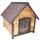 Dog Kennel Wooden Pet Puppy House Timber Home Indoor Outdoor (Medium)