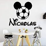 wZUN Calcomanías de decoración de Pared para habitación de niños con Nombre Personalizado...