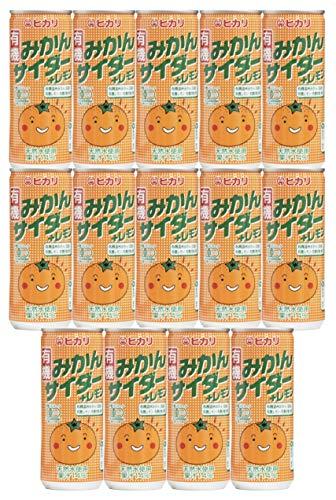 光食品 有機みかんサイダー+レモン250ml x 14本