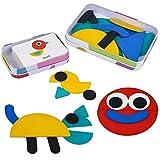 Puzzle Juguetes Montessori para Niños 3 Años Infantiles con Rompecabezas de 36 Piezas+Tarjetas de 60 Piezas Juegos Educativos Puzzle Juguetes de Madera Regalos para Niños Niñas 3 4 5 6 7 Años