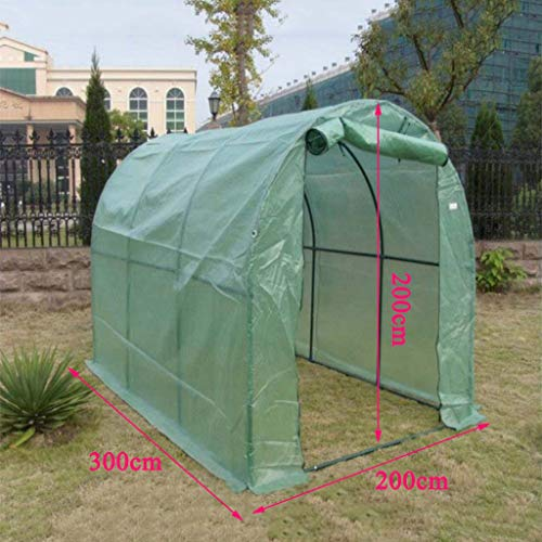 XY&CF-Flower house Plante à Effet de Serre PE Maille Couverture en Acier Inoxydable Support Serre Serre Maison (300 * 200 * 200CM)