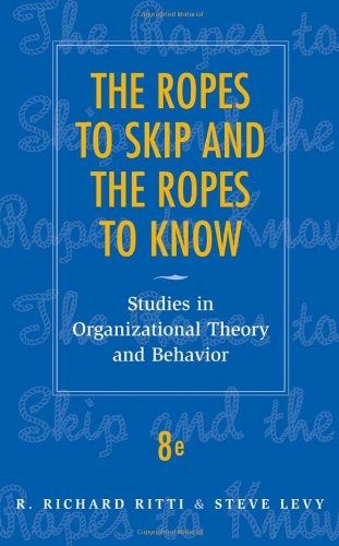 The Ropes to Skip and the Ropes to Know: Studies in...