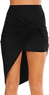 Sexy Mini Skirts for Women Bodycon High Waisted Boho High Low Pencil Summer Skirt. Beach,Office,Clubwear,Date Nightout