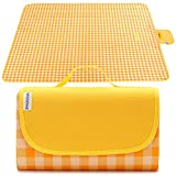 Extra Large Picnic Blanket, VICSOME 77''X79'' Dual Layers Sandproof Waterproof Oversized for 6-8 People Beach Blanket, Foldable Machine Washable Mat for Camping Hiking Park Music Festivals and Travel
