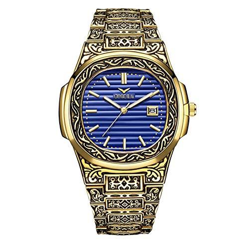 LALB Reloj De Moda para Hombres, Reloj De Banda De Acero Impermeable Masculino.