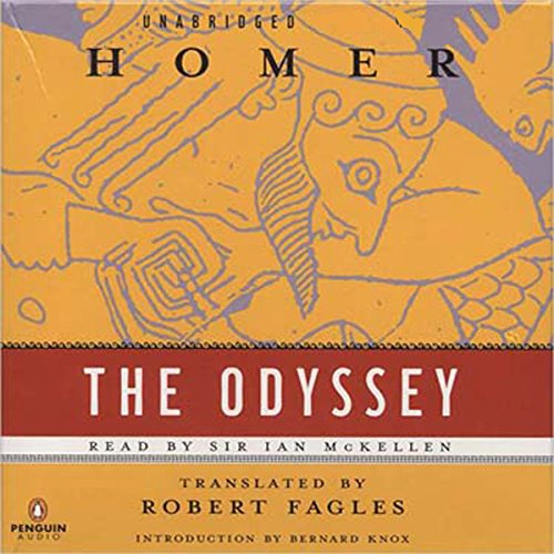 The Odyssey                   By:                                                                                                                                 Homer,                                                                                        Robert Fagles - translator                               Narrated by:                                                                                                                                 Ian McKellen                      Length: 13 hrs and 18 mins     77 ratings     Overall 4.5