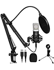 USB Microphone Kit,UHURU Professional Streaming Microphone Kit with 25mm Large Diaphragm 192kHZ/24bit Condenser Studio Cardioid Mic for YouTube Gaming Podcasting(UM-925)