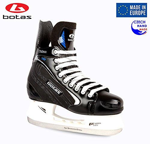 Botas Herren Eishockeyschlittschuhe Yukon 381, (Tschechische Republik), Farbe: Schwarz mit Silber, Schwarz mit Silber, Adult 10