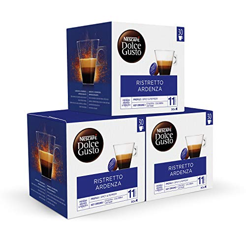 Nescafé Dolce Gusto Ristretto Ardenza - Cápsulas de Café - 3 x 30 - 90 Cápsulas