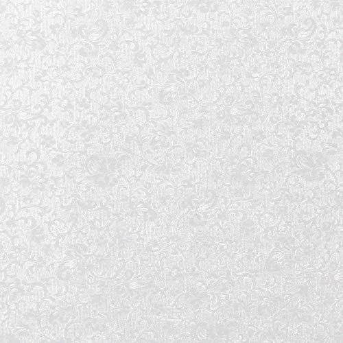 Wandtapijt Helder Wit Applique Bloemenreliëf A4 Parelmoer Bloemenkaart Prachtige Vintage Ontwerp Slight Sparkle Effect 300 gsm