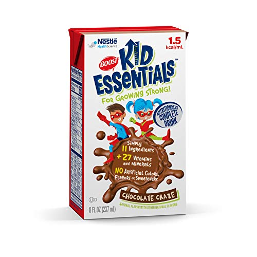 Boost Kid Essentials 1.5 Nutritionally Complete Drink, Chocolate Craze, 8 Fluid ounces, Pack of 27