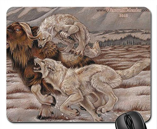 The Hunt Of The Wolves Mouse Pad, Tapis de Souris (Dogs Mouse Pad)