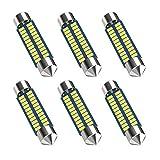 578 Led Bulb 211-2 Led Bulb 41mm 42mm 1.65in 212-2 Led Bulb for Car Map Light Dome Light, 22SMD 3014 Chips 6000k White Super Bright Interior Led Bulb,Pack of 6pcs