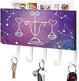 Gancho para llaves montado en la pared, clasificador de correo, organizador de soporte para llaves de correo, espacio Galaxy, letrero de acuario con estrella, decoración del hogar para la entrada, es